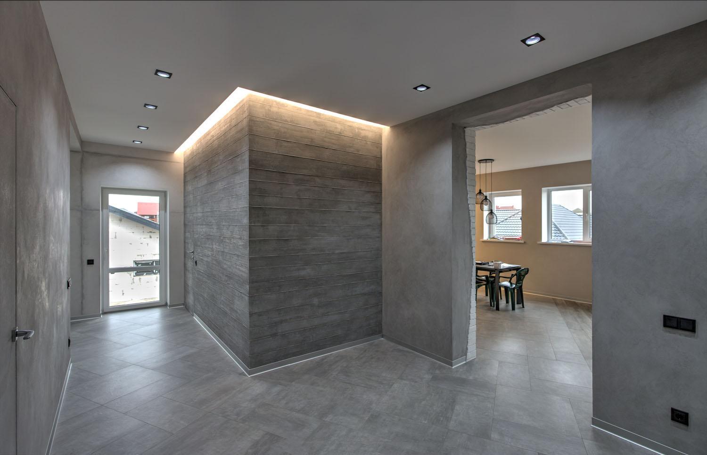 отделка стен декоративным бетоном